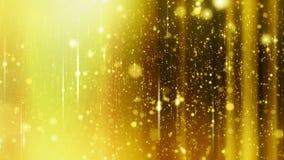 Υπόβαθρο αστεριών με τις φλόγες μέσα και έξω από την εστίαση, κίτρινο χρώμα απόθεμα βίντεο