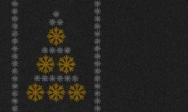 Υπόβαθρο ασφάλτου με snowflakes Στοκ Εικόνες