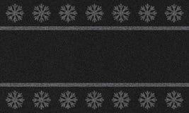 Υπόβαθρο ασφάλτου με snowflakes Στοκ εικόνα με δικαίωμα ελεύθερης χρήσης