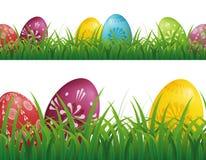 Υπόβαθρο αυγών Πάσχας διανυσματική απεικόνιση