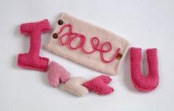 Υπόβαθρο βαλεντίνων, καρδιά αγάπης, ημέρα βαλεντίνων, diy Στοκ Εικόνες