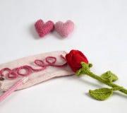 Υπόβαθρο βαλεντίνων, καρδιά αγάπης, ημέρα βαλεντίνων, diy Στοκ φωτογραφίες με δικαίωμα ελεύθερης χρήσης