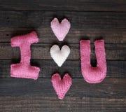 Υπόβαθρο βαλεντίνων, καρδιά, ημέρα βαλεντίνων, δώρο, χειροποίητο Στοκ Εικόνα