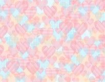 Υπόβαθρο βαλεντίνων με τις πολύχρωμες καρδιές Στοκ Εικόνες
