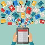 Υπόβαθρο βιβλίων ανάγνωσης διανυσματική απεικόνιση
