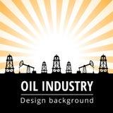 Υπόβαθρο βιομηχανίας πετρελαίου Στοκ Εικόνες