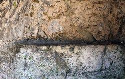 Υπόβαθρο βράχου σπάσιμο της επιφάνειας πετρών ο αντίκτυπος της φύσης στην πέτρα στοκ φωτογραφία με δικαίωμα ελεύθερης χρήσης