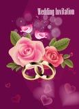 Υπόβαθρο γαμήλιας πρόσκλησης ελεύθερη απεικόνιση δικαιώματος