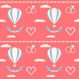 Υπόβαθρο γαμήλιων άνευ ραφής ρομαντικό διακοσμητικό σχεδίων Στοκ Εικόνες