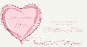 Υπόβαθρο γαμήλιων ρόδινο αγαπημένων Διανυσματική απεικόνιση