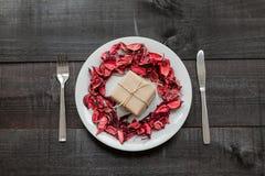 Υπόβαθρο γεύματος δώρων Στοκ Φωτογραφίες