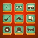 Υπόβαθρο για τα app εικονίδια καθορισμένα, hipster στοιχεία Στοκ φωτογραφίες με δικαίωμα ελεύθερης χρήσης