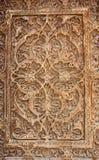 Υπόβαθρο για την ασιατική ασιατική ξύλινη διακόσμηση Στοκ Φωτογραφίες
