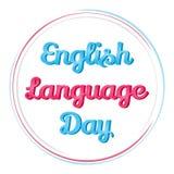 Υπόβαθρο για την ημέρα αγγλικής γλώσσας Η διανυσματική απεικόνιση για σας σχεδιάζει, κάρτα, έμβλημα, αυτοκόλλητη ετικέττα, αφίσα, Στοκ φωτογραφία με δικαίωμα ελεύθερης χρήσης