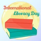 Υπόβαθρο για τη διεθνή ημέρα βασικής εκπαίδευσης Η διανυσματική απεικόνιση για σας σχεδιάζει, κάρτα, έμβλημα, αυτοκόλλητη ετικέττ Στοκ εικόνα με δικαίωμα ελεύθερης χρήσης