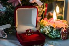 Υπόβαθρο για τη ευχετήρια κάρτα για τα Χριστούγεννα Στοκ Εικόνα