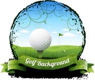 Υπόβαθρο γκολφ Στοκ Εικόνα