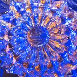 Υπόβαθρο γυαλιού κρυστάλλου Στοκ Φωτογραφίες
