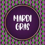 Υπόβαθρο διακοπών της Mardi Gras Διανυσματικό πρότυπο EPS10 Στοκ Φωτογραφίες