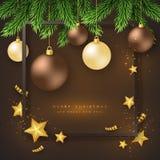 Υπόβαθρο διακοπών Χαρούμενα Χριστούγεννας Στοκ εικόνα με δικαίωμα ελεύθερης χρήσης
