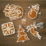 Υπόβαθρο διακοσμήσεων διακοπών Χαρούμενα Χριστούγεννας Στοκ Εικόνες