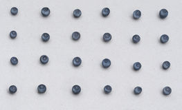 Υπόβαθρο εγγράφου με τα μπλε μύρτιλλα Κατάλληλο στοιχείο σχεδίου για τον εποχιακό χαιρετισμό, κάρτα, έμβλημα Στοκ Φωτογραφία