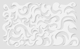 Υπόβαθρο εγγράφου μπουκλών Διανυσματική απεικόνιση