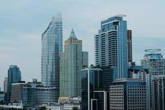 Υπόβαθρο εικονικής παράστασης πόλης της Μπανγκόκ στοκ εικόνα