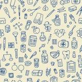 Υπόβαθρο εικονιδίων υγειονομικής περίθαλψης doodle διανυσματική απεικόνιση