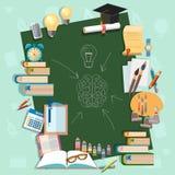 Υπόβαθρο εκπαίδευσης πίσω στην πανεπιστημιούπολη κολλεγίων πινάκων σχολικών σχολείων Στοκ φωτογραφία με δικαίωμα ελεύθερης χρήσης