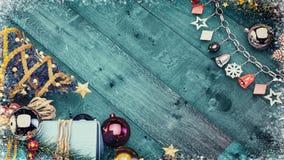 Υπόβαθρο εμβλημάτων Χριστουγέννων με το διάστημα αντιγράφων Στοκ εικόνα με δικαίωμα ελεύθερης χρήσης
