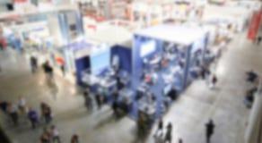 Υπόβαθρο εμπορικών εκθέσεων μια σκόπιμη επίδραση θαμπάδων που εφαρμόζεται με Στοκ φωτογραφία με δικαίωμα ελεύθερης χρήσης