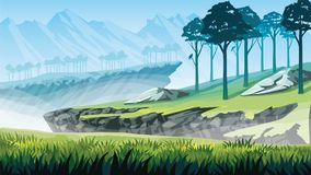 Υπόβαθρο ενός τοπίου βουνών απεικόνιση αποθεμάτων