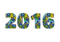 Υπόβαθρο εορτασμού καλής χρονιάς 2016 Στοκ Φωτογραφία