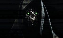 Υπόβαθρο επίθεσης χάκερ στοκ φωτογραφία με δικαίωμα ελεύθερης χρήσης