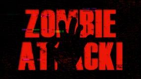 Υπόβαθρο επίθεσης Zombie κινηματογράφων Β με την επίδραση σύσπασης διανυσματική απεικόνιση