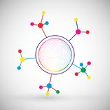 Υπόβαθρο επικοινωνίας τεχνολογίας χρώματος δικτύων Στοκ Εικόνες