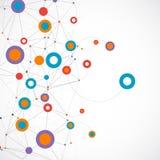 Υπόβαθρο επικοινωνίας τεχνολογίας χρώματος δικτύων διανυσματική απεικόνιση