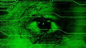 Υπόβαθρο επιχειρησιακών εμβλημάτων τεχνολογίας εικόνας ματιών Συνδεδεμένη παγκόσμια σφαίρα Google τεχνολογίας r απεικόνιση αποθεμάτων