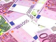 Υπόβαθρο επιχειρησιακών χρημάτων με τα ευρο- χρήματα Στοκ φωτογραφία με δικαίωμα ελεύθερης χρήσης