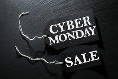 Υπόβαθρο ετικεττών πώλησης Δευτέρας Cyber στοκ εικόνες με δικαίωμα ελεύθερης χρήσης