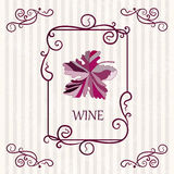 Υπόβαθρο ετικετών σταφυλιών κρασιού Ελεύθερη απεικόνιση δικαιώματος