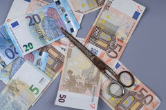 Υπόβαθρο ευρώ Στοκ Εικόνες