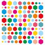 Υπόβαθρο ζωηρόχρωμα hexagons διανυσματική απεικόνιση