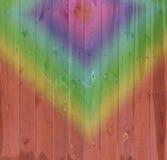 Υπόβαθρο ζωηρόχρωμο ο παλαιός ξύλινος φράκτης Στοκ εικόνα με δικαίωμα ελεύθερης χρήσης