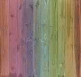 Υπόβαθρο ζωηρόχρωμο ο παλαιός ξύλινος φράκτης Στοκ Εικόνα