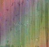 Υπόβαθρο ζωηρόχρωμο ο παλαιός ξύλινος φράκτης Στοκ φωτογραφία με δικαίωμα ελεύθερης χρήσης