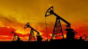 Υπόβαθρο ζωτικότητας γραφικής παράστασης κινήσεων αντλιών πετρελαίου σκιαγραφιών απόθεμα βίντεο