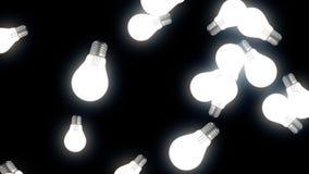 Υπόβαθρο ζωτικότητας λαμπών φωτός Λάμπες φωτός στο μαύρο υπόβαθρο ελεύθερη απεικόνιση δικαιώματος