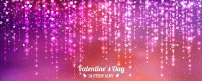 Υπόβαθρο ημέρας βαλεντίνων της κόκκινης πτώσης καρδιών Στοιχείο για τις ευχετήριες κάρτες Διαφανής διανυσματική επίδραση απεικόνιση αποθεμάτων